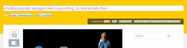 Screenshot van de handige SEO-tool Quix van Yoast.